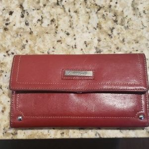 Red leather Kenneth Cole wallet